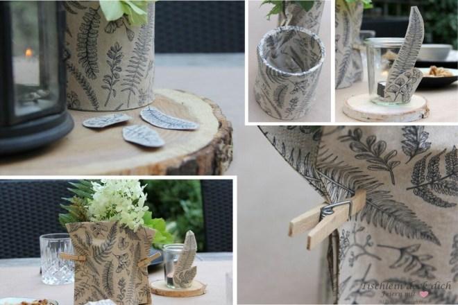 Tischdekoration mit Papierservietten