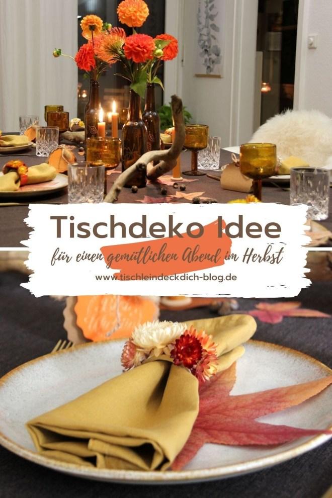 Tischdekoidee für den Herbst