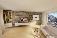 Moderne Wohnzimmer Mit Bibliothek - parsvending.com