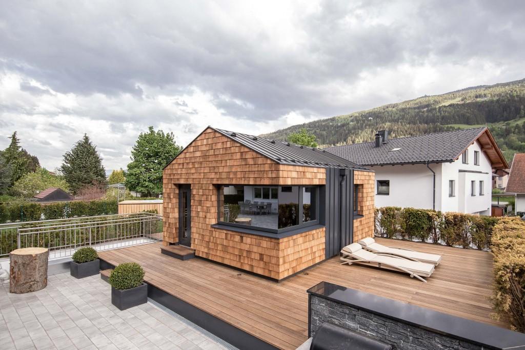 Luxus Gartenhtte in Holzbauweise