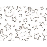 Tischset   Platzset   Mond & Sterne zum Ausmalen   aus ...