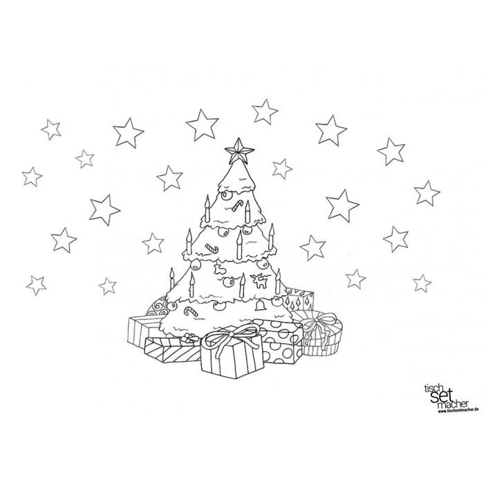 Tischsets Platzsets - Malvorlage Weihnachten