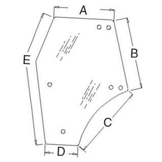 Kubota M5040, M6040, M7040, M8540, M9540 Tractor Glass