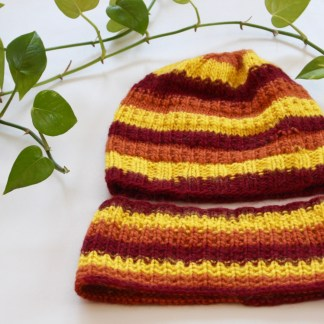 Tuque et cache cou en laine