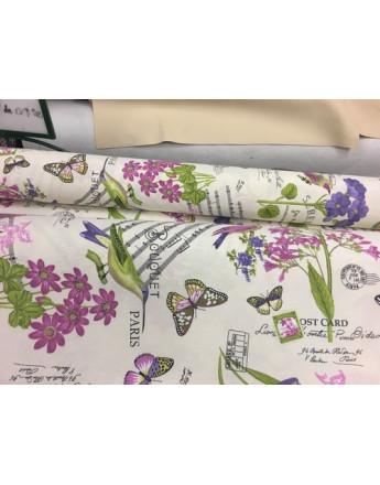 tissu coton ameublement fleuri tissu max