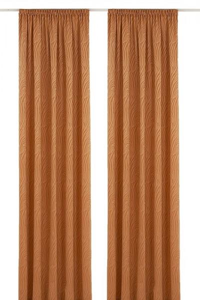 voilage avec galon fronceur smock orange 245cmx137cm