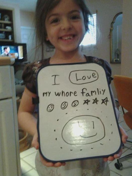 autocorrect whore family