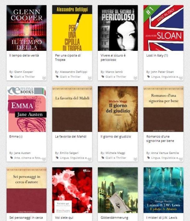 sito per scaricare ebook gratis in italiano