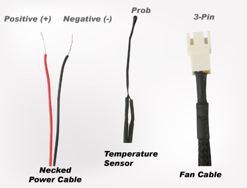 small resolution of how to connect the power cable and fan cable