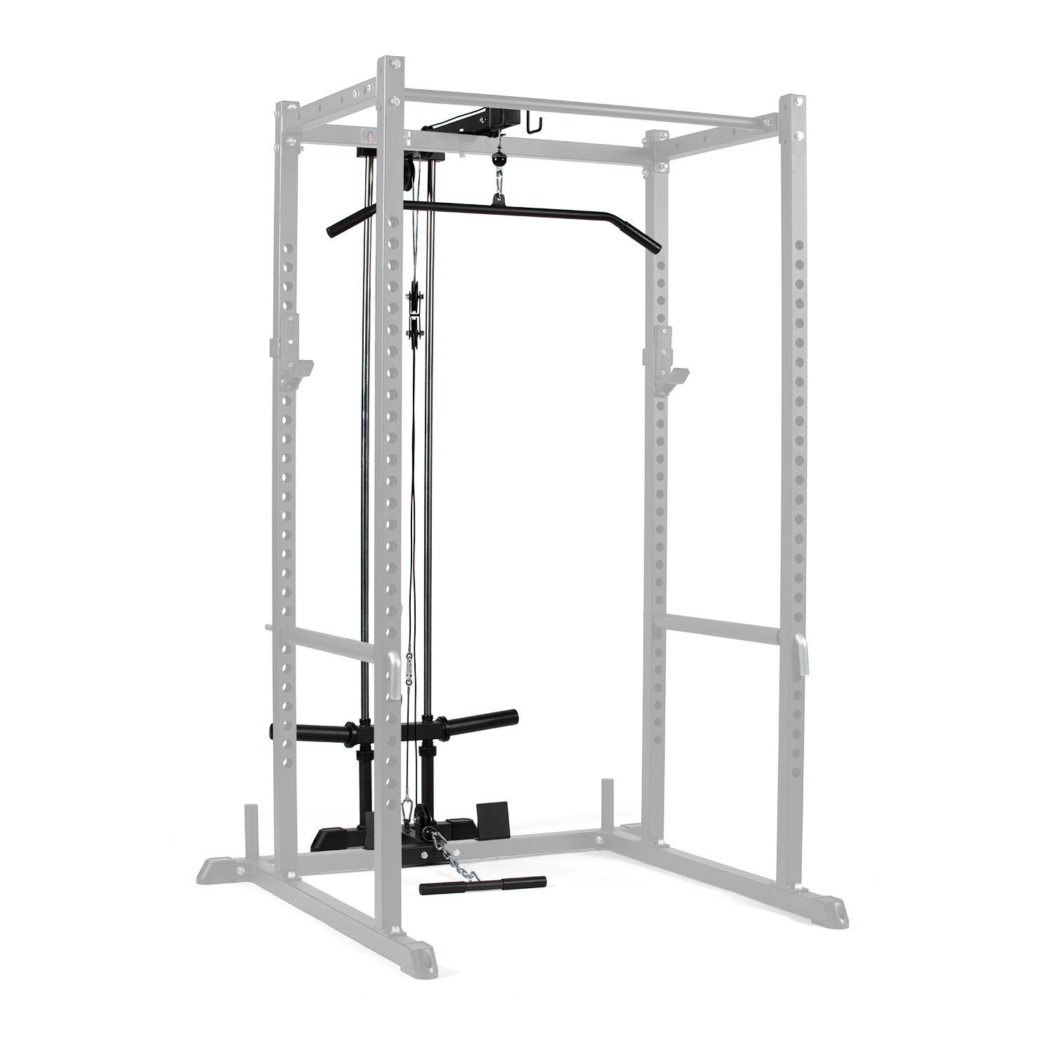 t 2 series lat tower power rack attachment