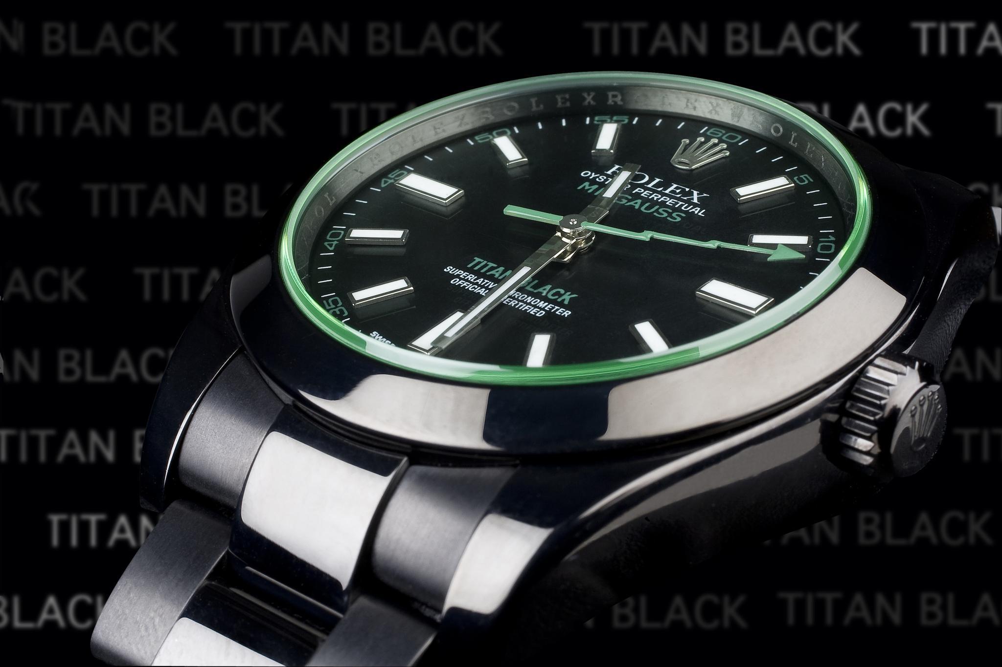 Rolex Milgauss Envy Titan Black