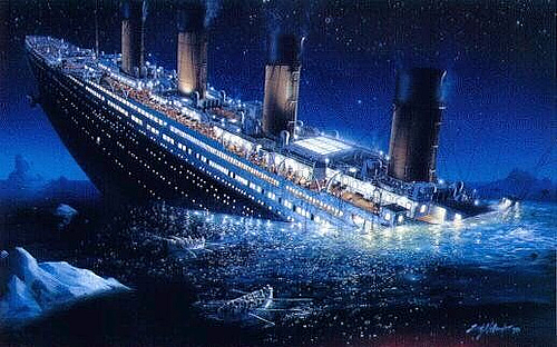 Image result for titanic, sinking, pictures