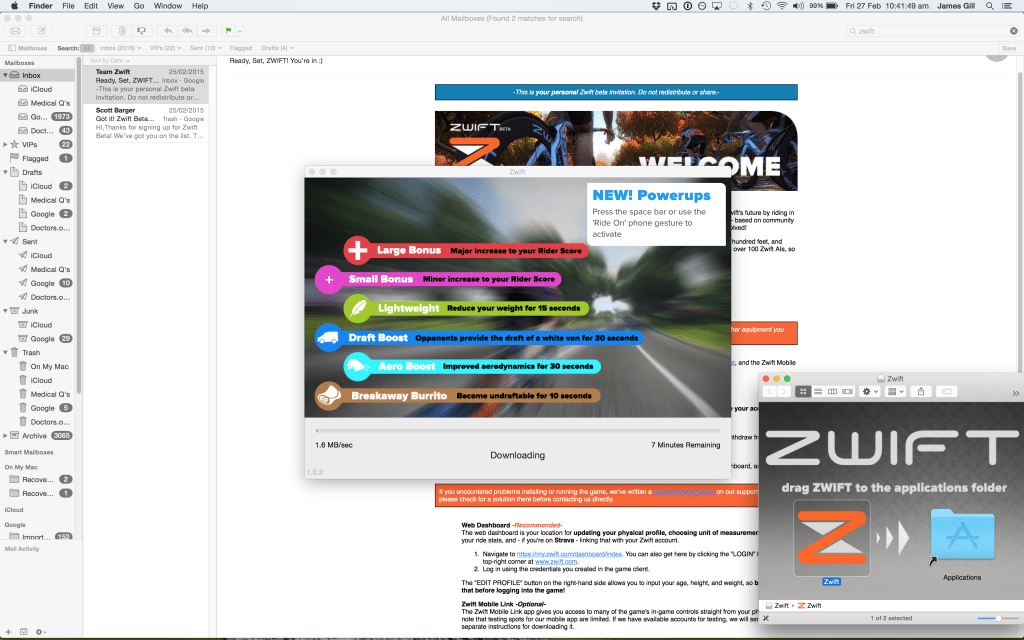 TitaniumGeek Screen-Shot-2015-02-27-at-10.41.49-1024x640 Zwift review - The latest twist on indoor training Zwift Wahoo Turbo Trainer Strava Segments Mac Laptop KICKR Gear cycling ANT+