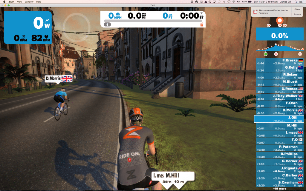 TitaniumGeek Screen-Shot-2015-03-01-at-09.10.50-1024x640 Zwift review - The latest twist on indoor training Zwift Wahoo Turbo Trainer Strava Segments Mac Laptop KICKR Gear cycling ANT+