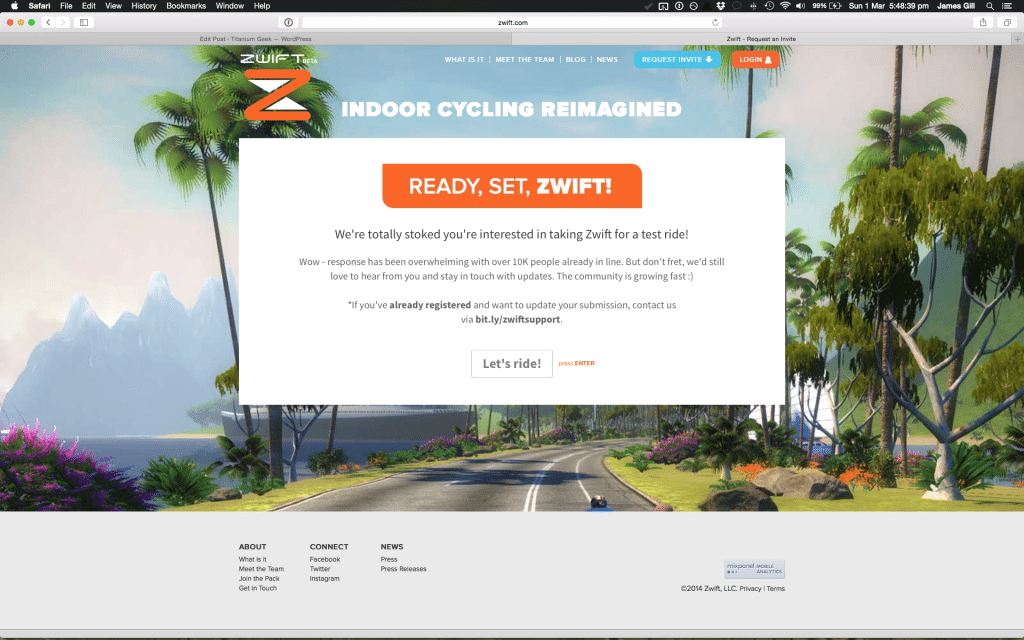 TitaniumGeek Screen-Shot-2015-03-01-at-17.48.39-1024x640 Zwift review - The latest twist on indoor training Zwift Wahoo Turbo Trainer Strava Segments Mac Laptop KICKR Gear cycling ANT+