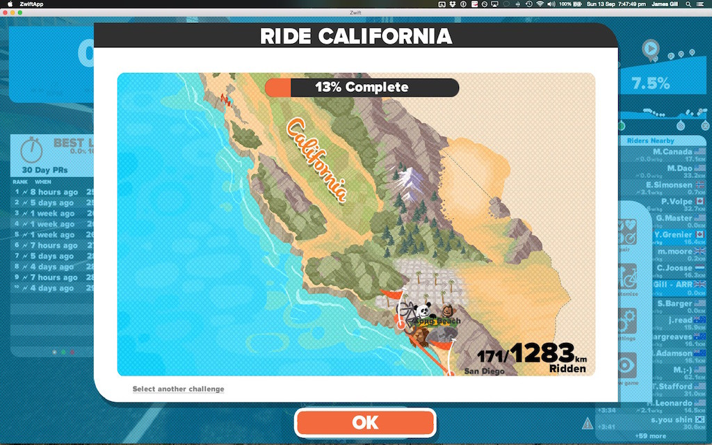 TitaniumGeek Screen Shot 2015 09 13 at 19.47.49 1024x640 Zwift Richmond 2015 Road World Championship Course   A Riders Guide Cycling Zwift    Image of Screen Shot 2015 09 13 at 19.47.49 1024x640