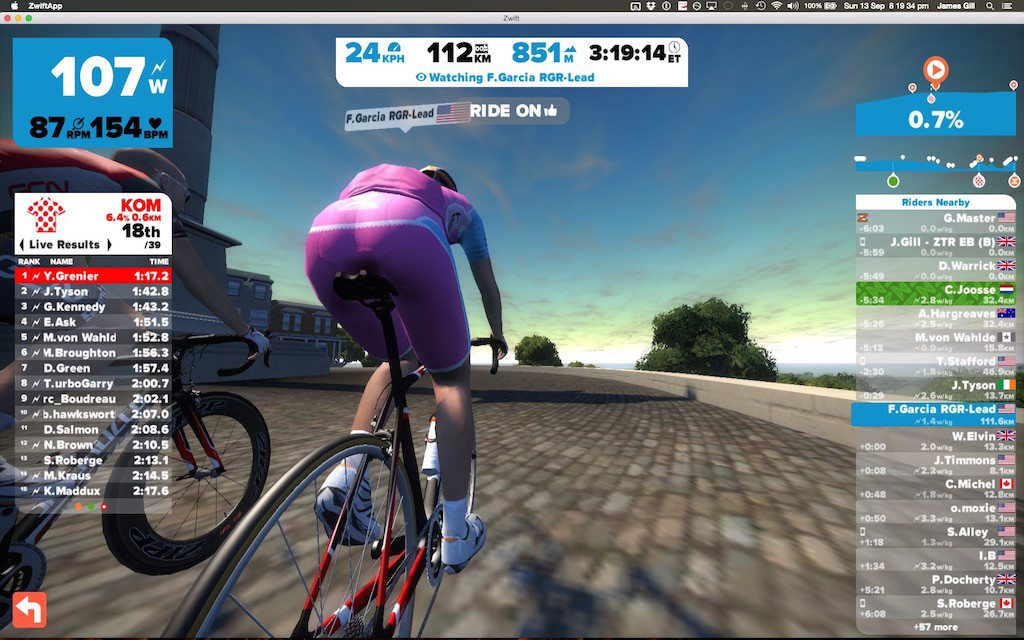 TitaniumGeek Screen Shot 2015 09 13 at 20.19.34 1024x640 Zwift Richmond 2015 Road World Championship Course   A Riders Guide Cycling Zwift    Image of Screen Shot 2015 09 13 at 20.19.34 1024x640