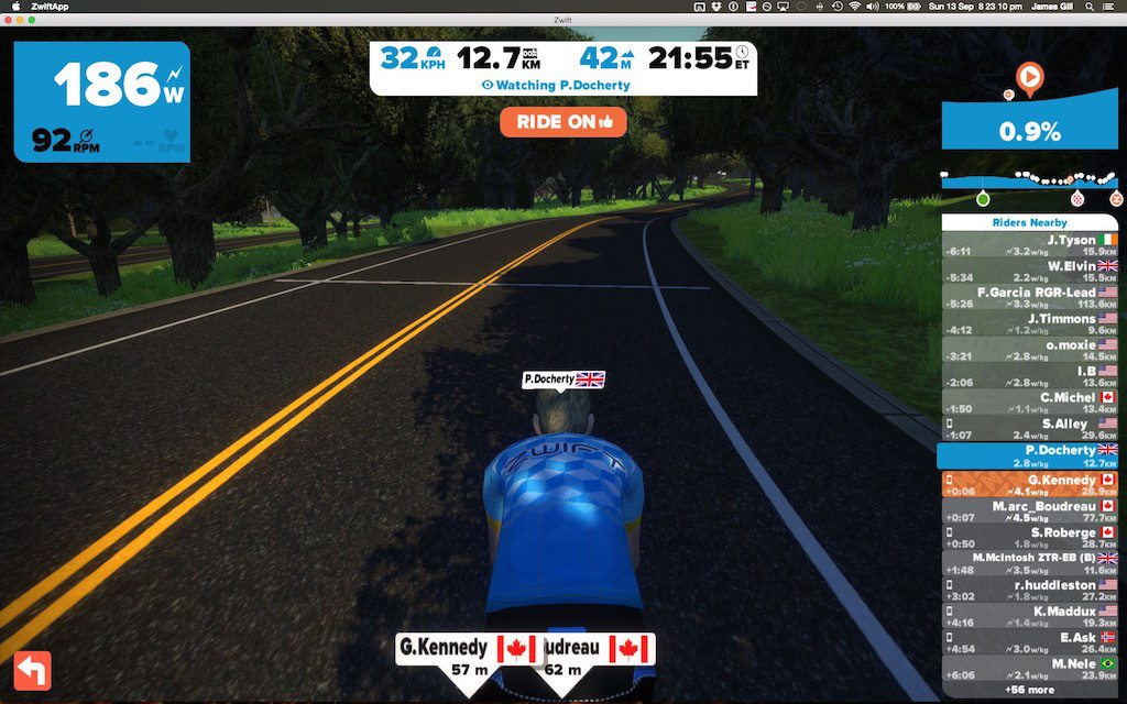 TitaniumGeek Screen Shot 2015 09 13 at 20.23.10 1024x640 Zwift Richmond 2015 Road World Championship Course   A Riders Guide Cycling Zwift    Image of Screen Shot 2015 09 13 at 20.23.10 1024x640