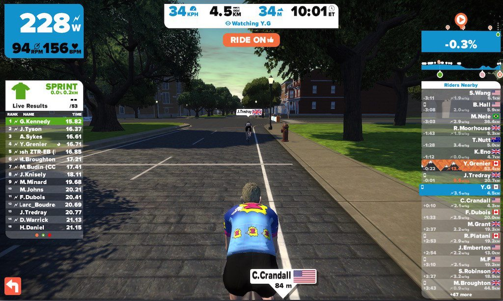 TitaniumGeek Screen Shot 2015 09 13 at 20.51.11 1024x614 Zwift Richmond 2015 Road World Championship Course   A Riders Guide Cycling Zwift    Image of Screen Shot 2015 09 13 at 20.51.11 1024x614