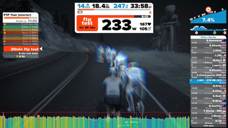 Zwift Workout mode