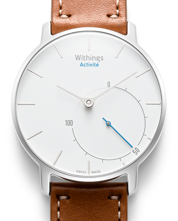 TitaniumGeek montre face white1 Withings Activité Pop Review   New tricks with a classical face Gear Reviews Running  withings swimming smart watch running activity tracker   Image of montre face white1