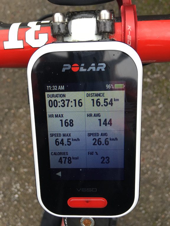 TitaniumGeek IMG 0238 1 Polar V650 GPS Cycling Computer Review Cycling Cycling Computers and GPS Units Gear Reviews  V650 touch screen Polar Navigation GPS Cycling computer cycling Bike computer   Image of IMG 0238 1