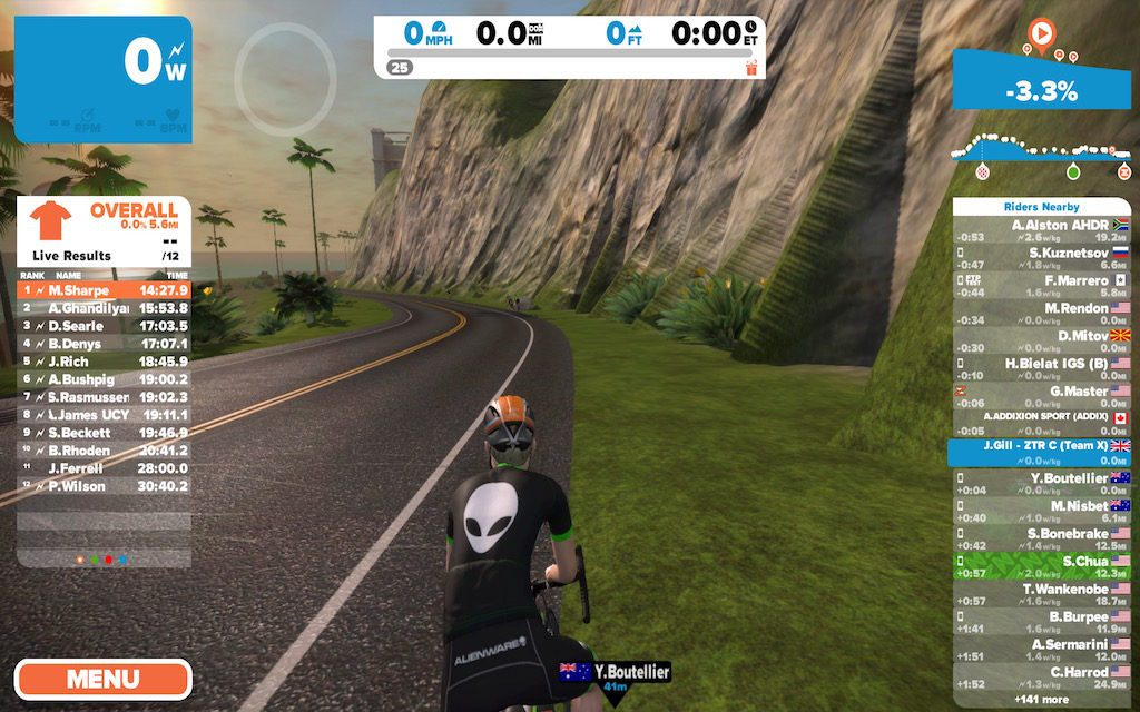 TitaniumGeek Screen Shot 2016 09 03 at 21.48.31 1024x640 Zwift User Manual   The Unofficial Guide to Zwift! Cycling Zwift  Zwift phone app Zwift manual Zwift user manual updates manual ios Gear cycling android   Image of Screen Shot 2016 09 03 at 21.48.31 1024x640