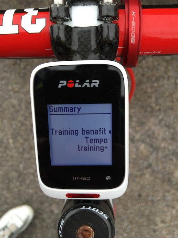 TitaniumGeek IMG 5297 Polar M450 GPS cycling computer review Cycling Cycling Computers and GPS Units Gear Reviews  Zwift Polar M450 Polar GPS Garmin 25 garmin Cycling computer cycling Bike   Image of IMG 5297