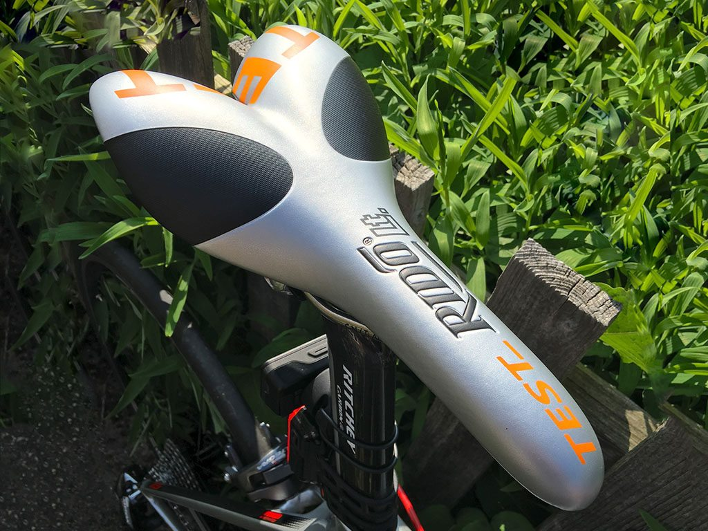 TitaniumGeek IMG 5154 1024x768 Rido RLt Saddle Review   Peroneum Protection with Race Spec Cycling Gear Reviews  TT saddle road Rido race Perineum perineal nose less ISM Fabric cycling   Image of IMG 5154 1024x768