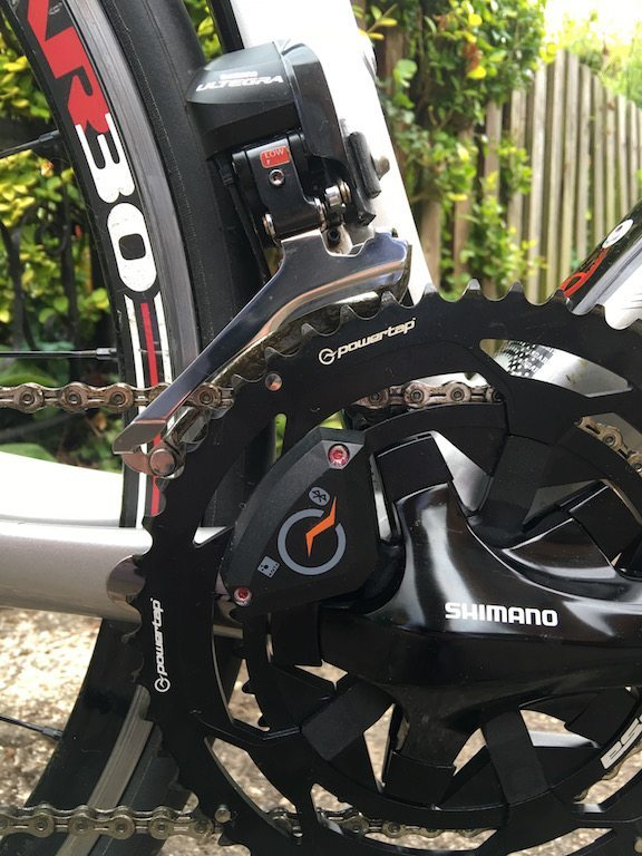 TitaniumGeek IMG_1238-1 PowerTap C1 Power Meter Review | Zwift Gear Tests! Zwift Gear Test Zwift Wahoo Elemnt Wahoo Stages RideLondon powertap power meter garmin Vector 2 cycling chain ring Bike