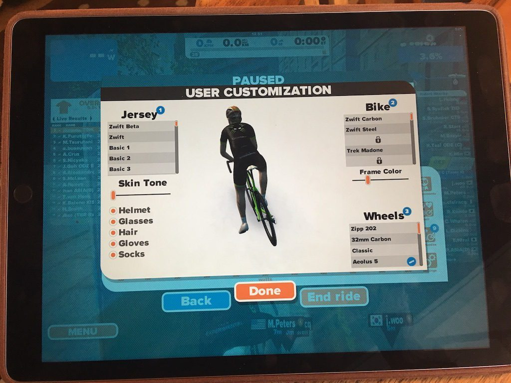 TitaniumGeek IMG 4227 1024x768 Zwift iOS Game App review   Full Zwift in your pocket!! Cycling Running Zwift  Zwift iOS Game app Zwift iOS Zwift TeamX riding iphone ipad cycling bluetooth sensors ANT+   Image of IMG 4227 1024x768