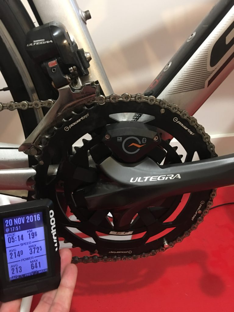 TitaniumGeek img 7662 768x1024 4iiii Precision (Gen2) Power Meter Review | Zwift Gear Test Cycling Gear Reviews Power Meters Zwift  Zwift Gear Test Zwift ultegra powermeter power meter Gear cycling crank 4iiii   Image of img 7662 768x1024