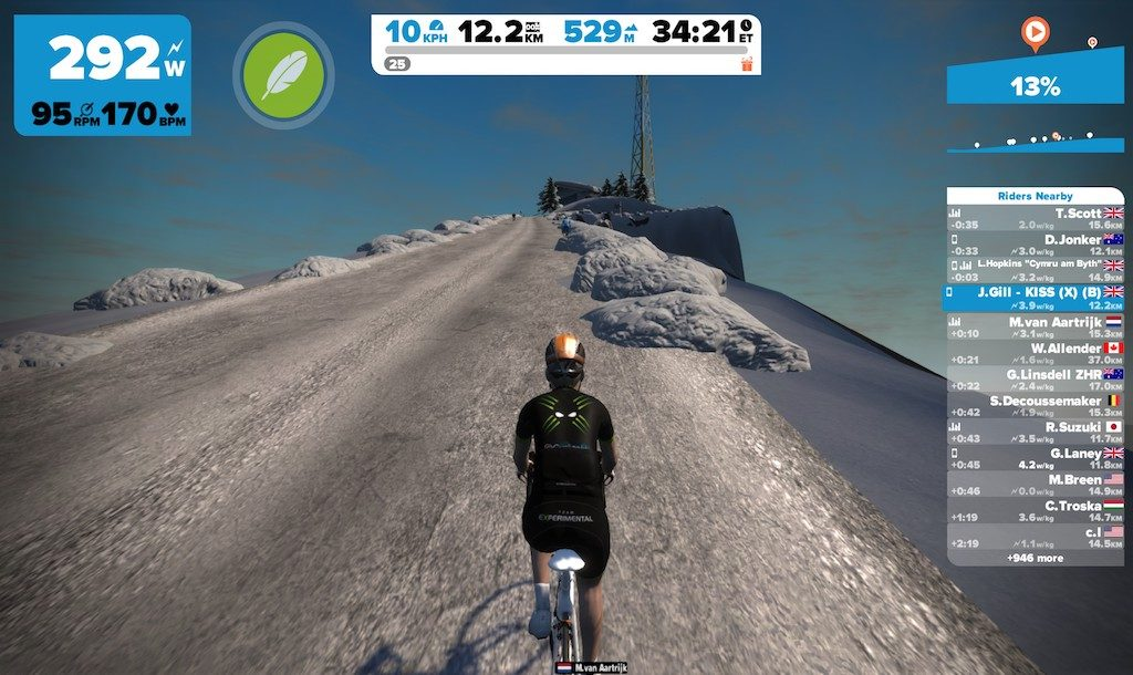 TitaniumGeek 2016 11 13 2010270 1024x610 Tacx Flux Smart Turbo Trainer Review   Zwift Gear Test | TitaniumGeek Cycling Gear Reviews Smart Trainers Zwift  Zwift Gear Test Zwift Turbo Trainer Turbo Tacx Smart trainer Neo indoor trainer flux Edco Hub edco cycling   Image of 2016 11 13 2010270 1024x610