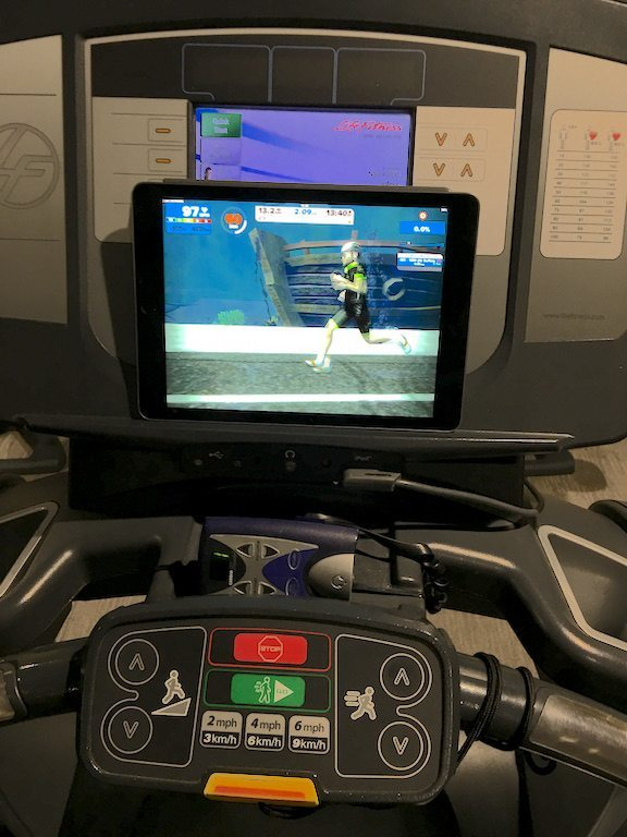 TitaniumGeek IMG 4496 Zwift Running iOS Review   Your treadmill just got upgraded!   TitaniumGeek Gear Reviews Running Zwift  zwift running Zwift iOS Zwift treadmill running iphone ios footpod foot pod cadence bluetooth   Image of IMG 4496