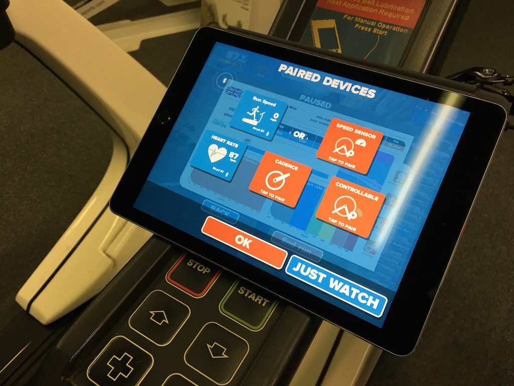 TitaniumGeek IMG_8446-1024x768 Zwift Running iOS Review - Your treadmill just got upgraded! - TitaniumGeek zwift running Zwift iOS Zwift treadmill running iphone ios footpod foot pod cadence bluetooth