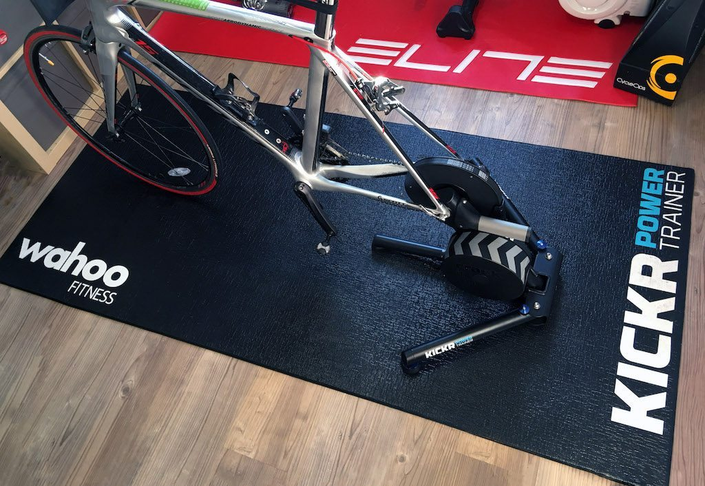 TitaniumGeek IMG 9033 copy 1024x706 Which Turbo Trainer Mat is Best for Zwift? Zwift Gear Tests Cycling Gear Reviews Zwift  zwift cave Zwift Wahoo Turbo Trainer turbo mats Tacx mats elite Cycleops   Image of IMG 9033 copy 1024x706