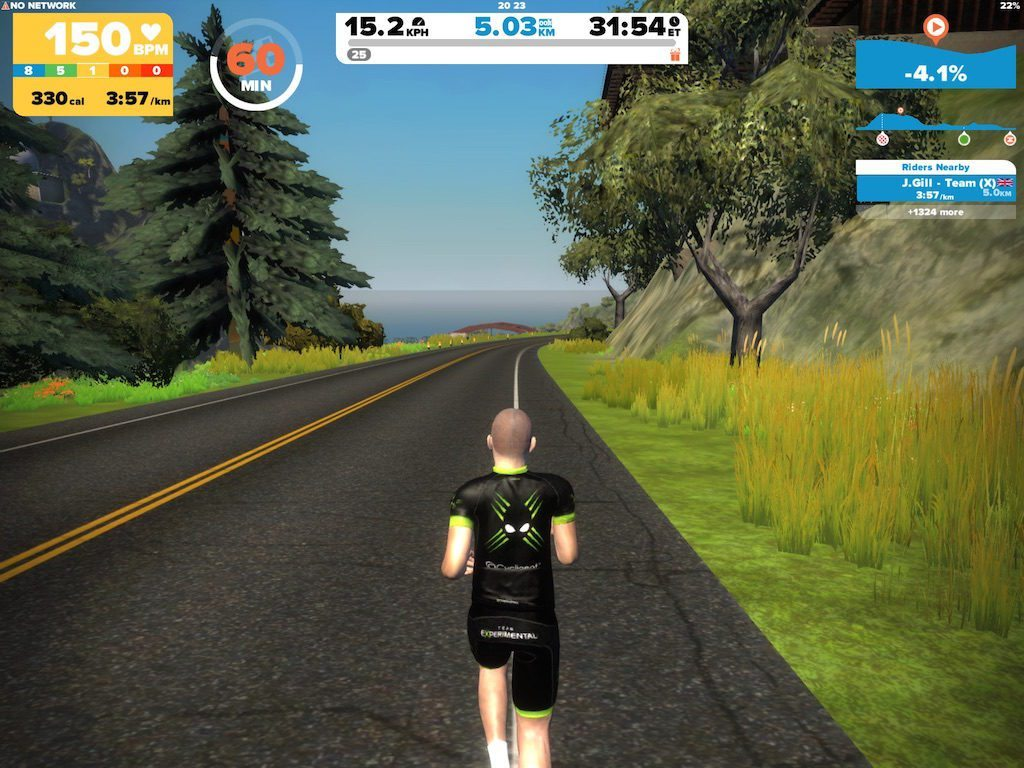 TitaniumGeek IMG_9182.large_-1024x768 Zwift Running iOS Review - Your treadmill just got upgraded! - TitaniumGeek zwift running Zwift iOS Zwift treadmill running iphone ios footpod foot pod cadence bluetooth