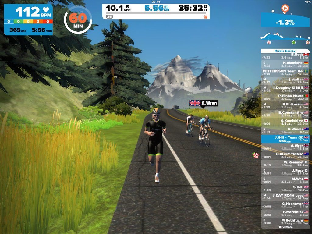 TitaniumGeek IMG_9184.large-2-1024x768 Zwift Running iOS Review - Your treadmill just got upgraded! - TitaniumGeek zwift running Zwift iOS Zwift treadmill running iphone ios footpod foot pod cadence bluetooth