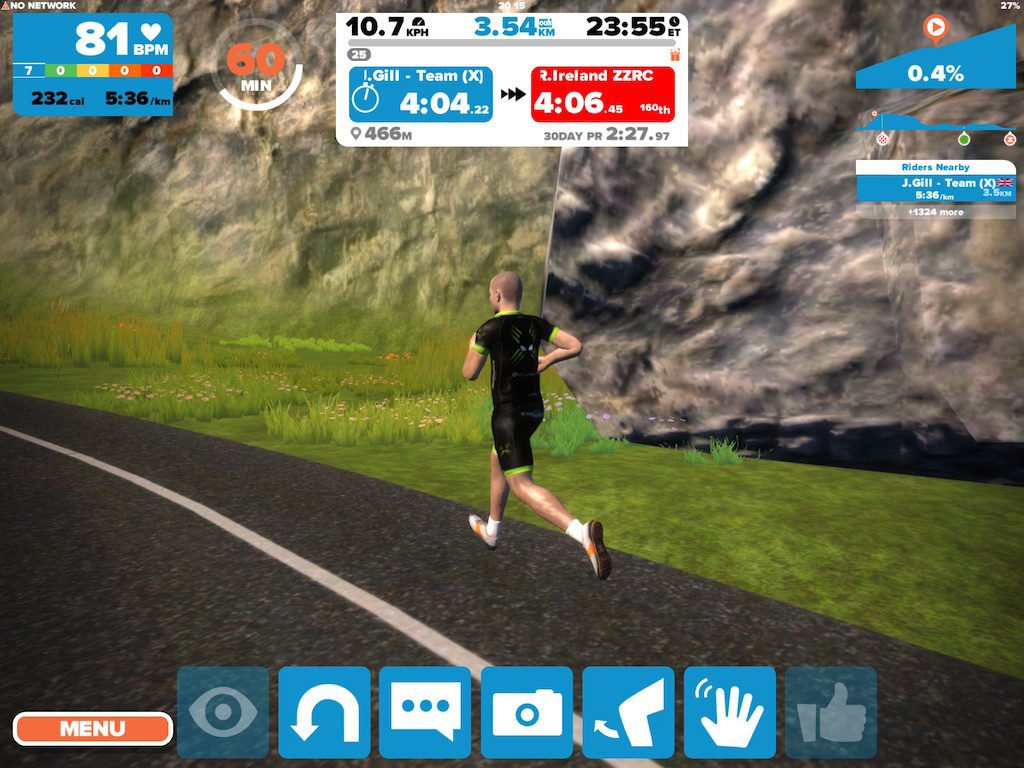 TitaniumGeek IMG_9186.large_-1024x768 Zwift Running iOS Review - Your treadmill just got upgraded! - TitaniumGeek zwift running Zwift iOS Zwift treadmill running iphone ios footpod foot pod cadence bluetooth