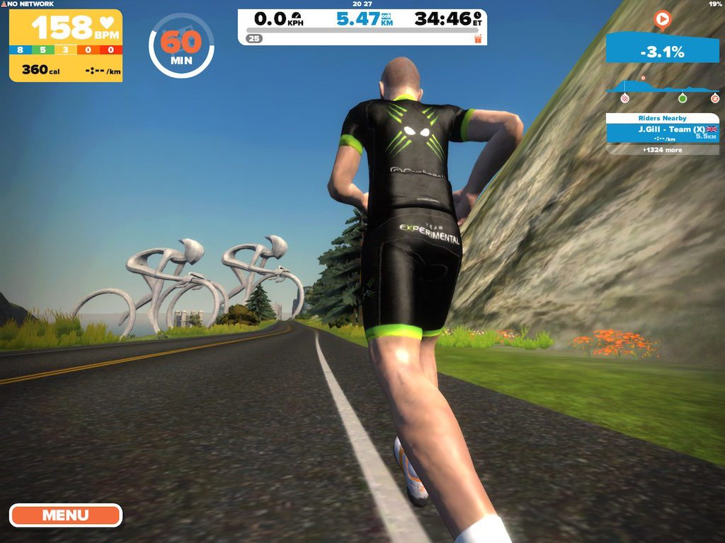 TitaniumGeek IMG_9187.large_-1024x768 Zwift Running iOS Review - Your treadmill just got upgraded! - TitaniumGeek zwift running Zwift iOS Zwift treadmill running iphone ios footpod foot pod cadence bluetooth