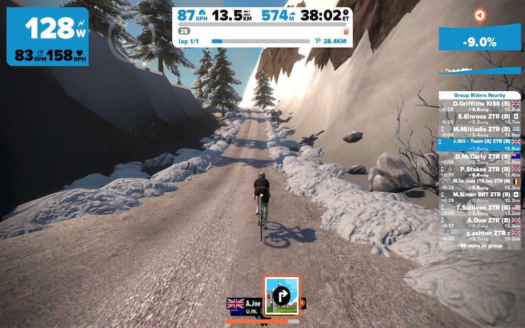 TitaniumGeek 2016 12 13 19100229 1024x640 Wahoo KICKR Review (Gen 2) | Zwift Gear Test   Kings New Handle Cycling Gear Reviews Smart Trainers Zwift  ZwiftGearTest Zwift Gear Test Zwift Wahoo Turbo Trainer Turbo training Smart trainer KICKR indoor cycling cycling   Image of 2016 12 13 19100229 1024x640