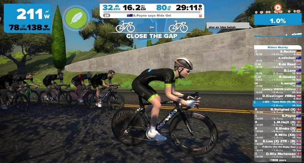 TitaniumGeek 2016 11 21 192637135 copy 1024x550 Elite Rampa Turbo Trainer Review | Zwift Gear Test Cycling Gear Reviews Smart Trainers Zwift  zwift gear review Zwift Turbo Trainer Smart trainer rampa power meter power estimator elite cycling bike trainer   Image of 2016 11 21 192637135 copy 1024x550
