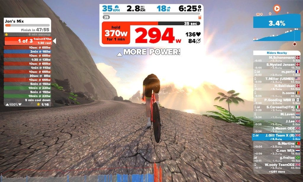 TitaniumGeek 2017 03 04 1046112 1024x614 Elite Rampa Turbo Trainer Review | Zwift Gear Test Cycling Gear Reviews Smart Trainers Zwift  zwift gear review Zwift Turbo Trainer Smart trainer rampa power meter power estimator elite cycling bike trainer   Image of 2017 03 04 1046112 1024x614