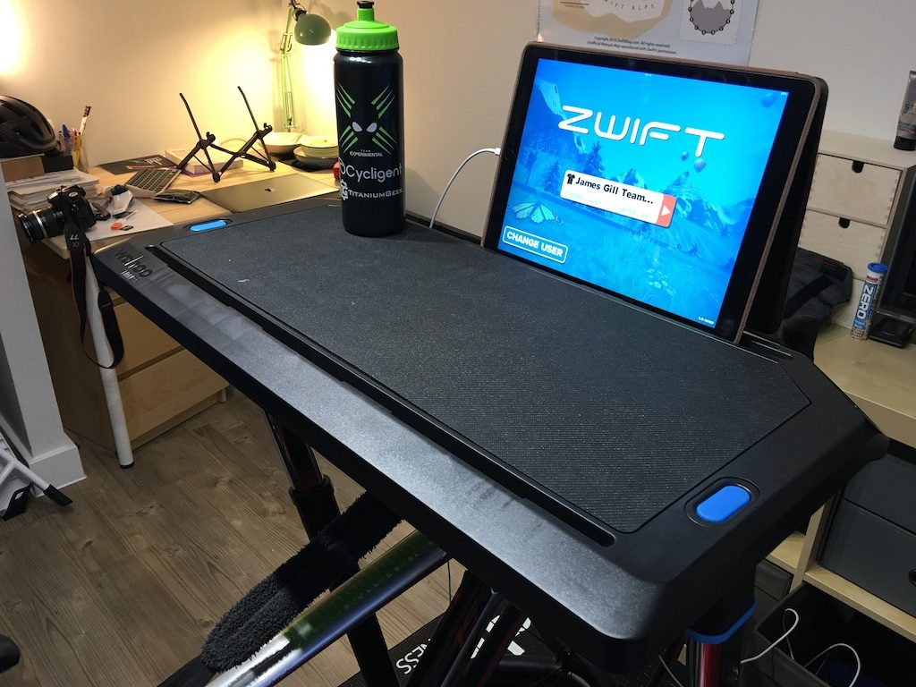 TitaniumGeek IMG_1653-1024x768 Wahoo KICKR Desk Review - A standing desk that you can also ride your bike at Zwift Wahoo KICKR cycling