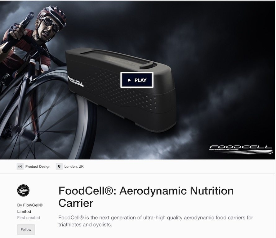 TitaniumGeek Screen-Shot-2017-05-12-at-09.11.09 FoodCell - Aerodynamic Cycling Nutrition Carrier TT storage sportive nutrition kickstarter gel cycling bento box aerodynamics