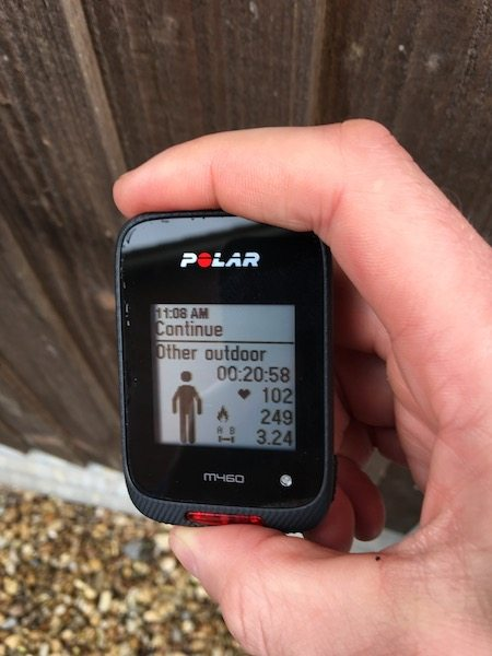 TitaniumGeek IMG_6971 Polar M460 Cycling GPS Computer  Review - With Strava Live Segments Triathlon strava segments Strava running Polar multisport GPS Cycling computer cycling bluetooth ANT+