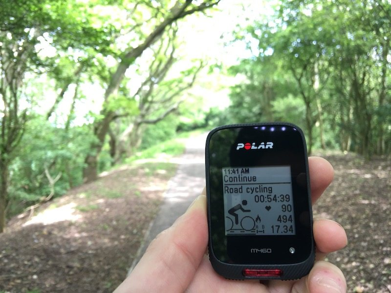 TitaniumGeek IMG_7067 Polar M460 Cycling GPS Computer  Review - With Strava Live Segments Triathlon strava segments Strava running Polar multisport GPS Cycling computer cycling bluetooth ANT+