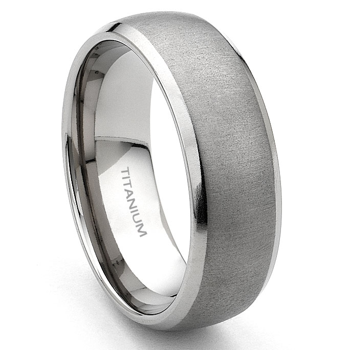 home men s titanium wedding rings loading zoom