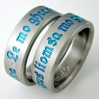 Centuria 3 titanium ring with Celtic style   Titanium ...