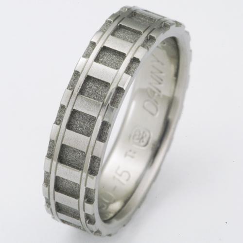Denver Titanium Ring With Railroad Tracks Titanium